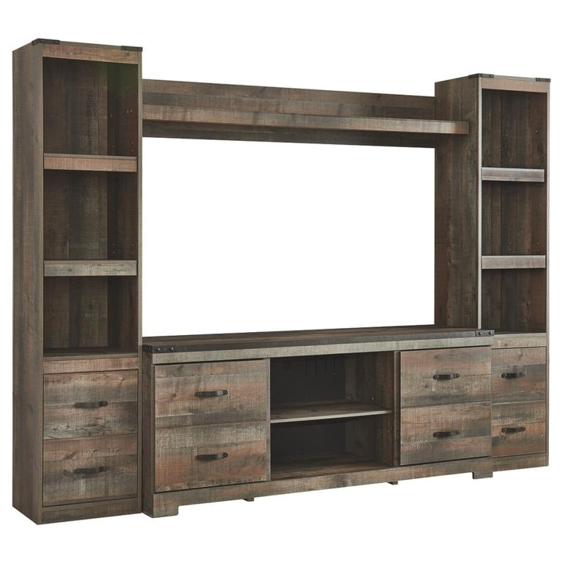 View Product - Trinell 4-piece Entertainment Center