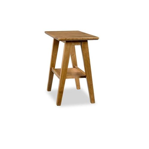 - Tribeca Leg Chairside Table with Shelf