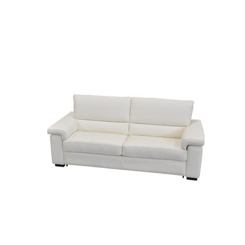 Estro Salotti Spock Italian Modern White Leather Large Sofa bed