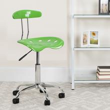 View Product - Vibrant Spicy Lime and Chrome Swivel Task Office Chair with Tractor Seat
