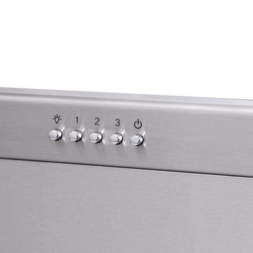 36 Inch Professional Range Hood, 11 Inches Tall In Stainless Steel