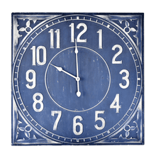 Blue Medallion Embossed Wall Clock