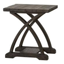 See Details - Chair Side Table in a Rustic Charcoal Finish       (977-OT1021,52918)