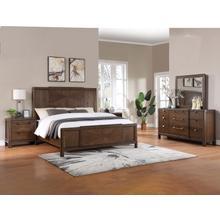 See Details - Milan 4-Piece King Bedroom Set (King Bed, Nightstand, Dresser/Mirror)