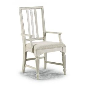Harmony Upholstered Arm Dining Chair