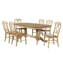 See Details - Double Pedestal Extendable Dining Set w/Napoleon Chairs (7 piece)