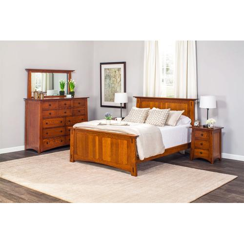 McCoy Panel Bed, Quartersawn White Oak #26 Michael's, McCoy Panel Bed, Queen, Quartersawn White Oak