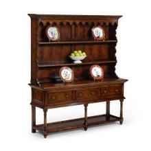 See Details - Walnut country open dresser