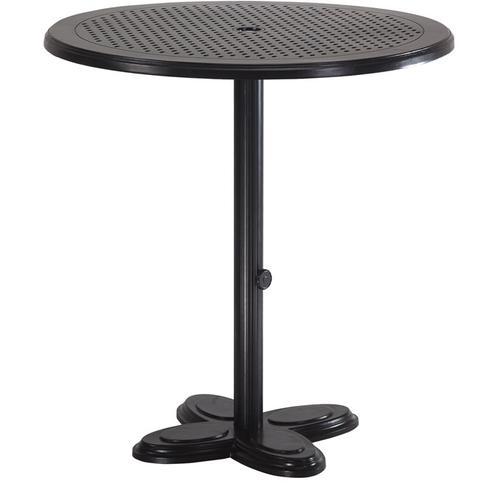 "Gensun Casual Living - Lotus Pedestal Table Pole For 42"" Bar Height Table with Lotus Lotus Pedestal Table Base"