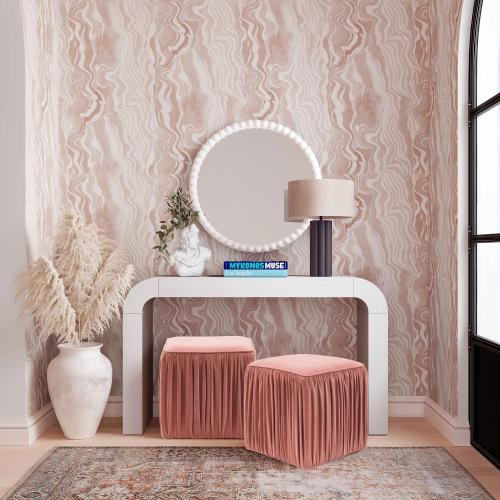 Tov Furniture - Baria White Wooden Mirror