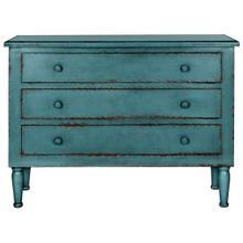 See Details - Talbet Storage Chest - Distressed Blue