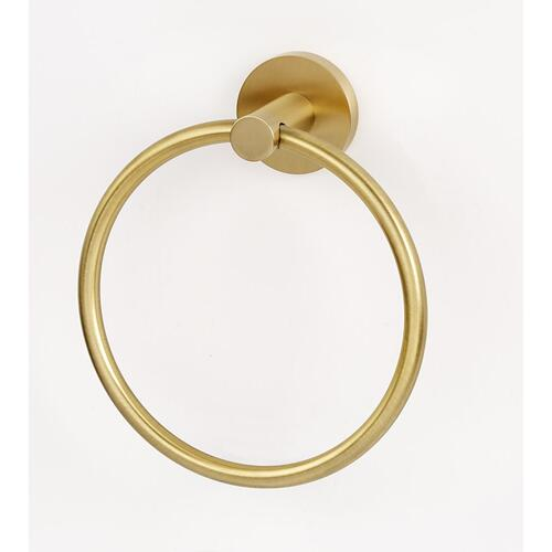 Contemporary I Towel Ring A8340 - Satin Brass