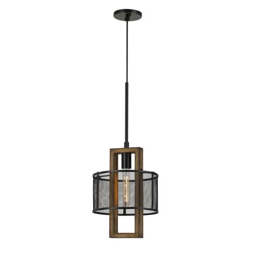 Product Image - 60W Monza Wood Chandelier With Mesh Shade (Edison Bulbs Not Included)