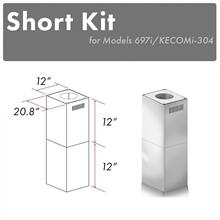 "ZLINE 2-12"" Short Chimney Pieces for 7 ft. to 8 ft. Ceilings (SK-697i/KECOMi-304)"