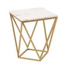 View Product - Leopold White Marble Side Table