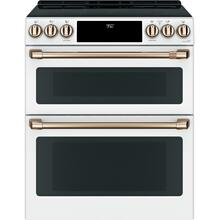 "OPEN BOX Café 30"" Smart Slide-In, Front-Control, Induction and Convection Double-Oven Range"