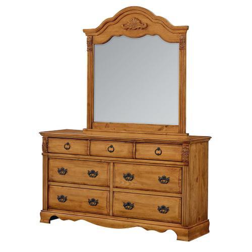 Georgetown 7-Drawer Dresser, Honey Pine