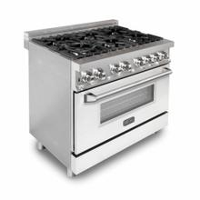 ZLINE 36 in. Professional Dual Fuel Range with White Matte Door (RA-WM-36)