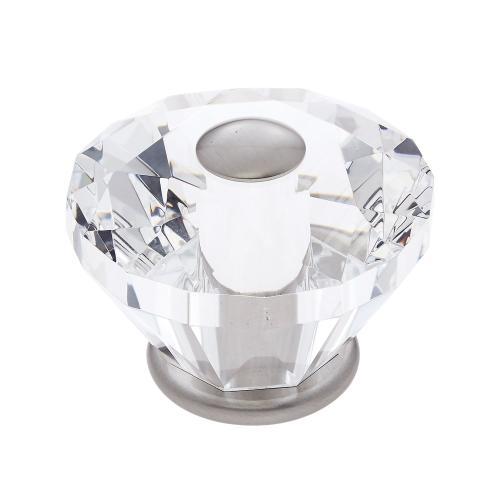 Satin Nickel 60 mm Diamond Cut Knob