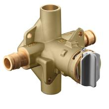 """M-Pact includes bulk pack posi-temp® 1/2"""" cold expansion pex inlets/cc outlets connection pressure balancing"""