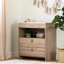Balka - Changing Table, Rustic Oak embossed
