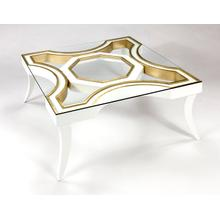 """View Product - Coffee Table with Glass 43x43x18.5"""""""