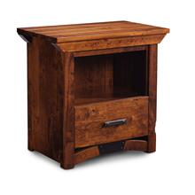 B&O Railroade Trestle Bridge Nightstand with Opening