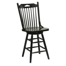 "Windswept Shores Farmhouse 24""h Swivel Barstool"