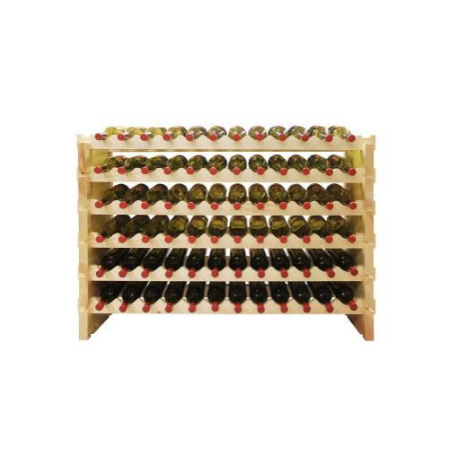 6 x 12 Bottle Modular Wine Rack (Natural)