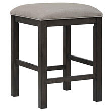 See Details - Backless Barstool Upholstered Barstool - Shades of Gray