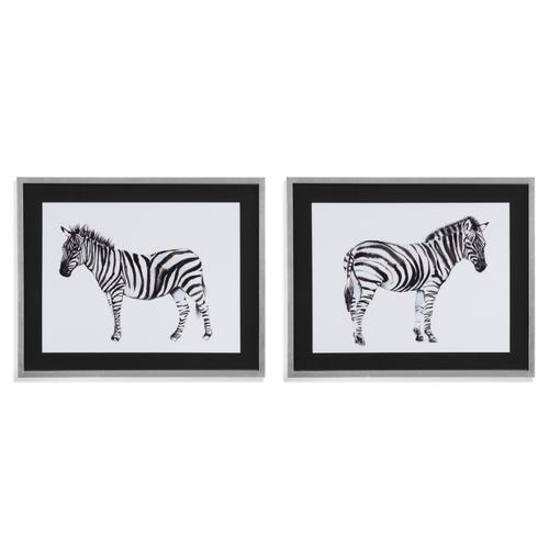 Bassett Mirror Company - Custom Standing Zebra 2 pc