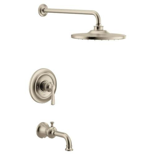 Colinet brushed nickel m-core 3-series tub/shower
