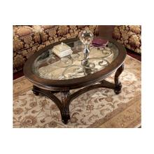 Norcastle Oval Cocktail Table Dark Brown