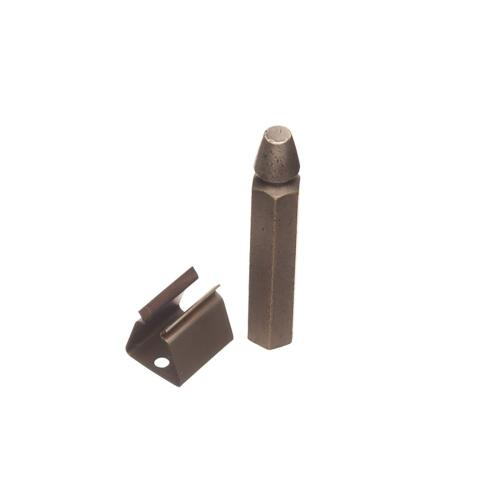 """Colonial Bronze - 3 1/4"""" Bullet & Clip Long Shutter Holder for Wood Application, Product # 103W"""