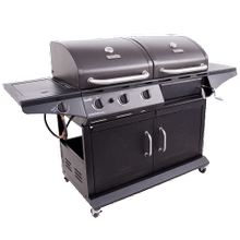 See Details - Deluxe Charcoal & Gas Combo Grill