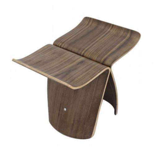 Modrest Kasba Modern Walnut Stool