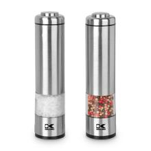 Product Image - Kalorik Electric Salt and Pepper Grinder Set, Stainless Steel