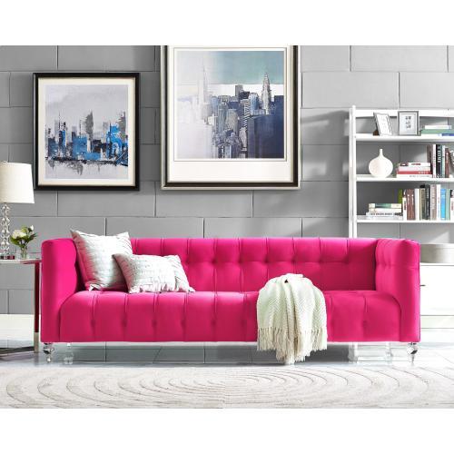 Bea Pink Velvet Sofa