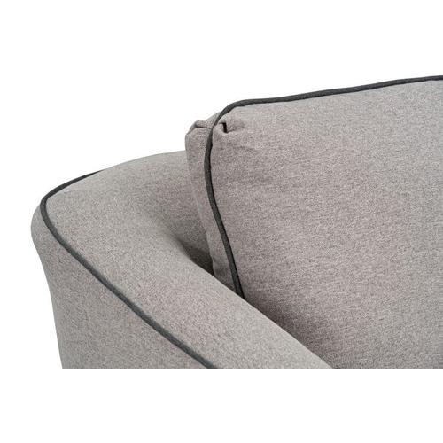 Standard Furniture - Nicolette Upholstered Swivel Chair, Cement with Graphite