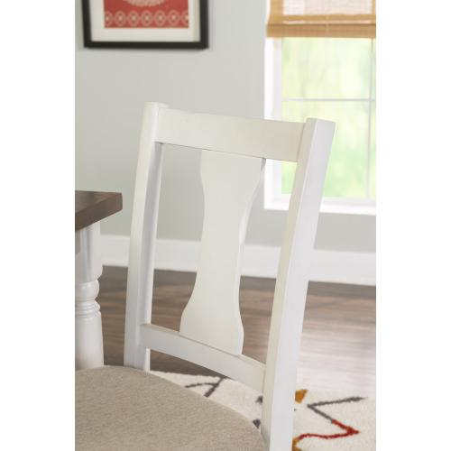 Upholstered Seat Side Chairs, Vanilla White (set of 2)