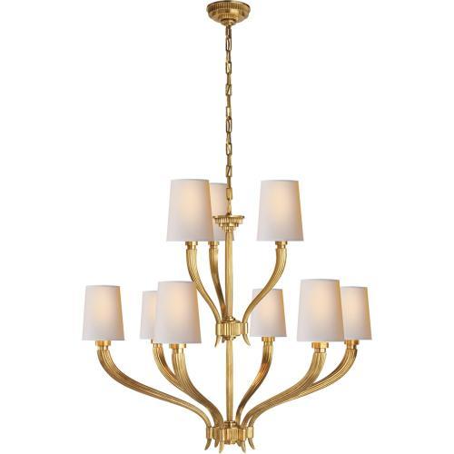 Visual Comfort CHC2465AB-NP E. F. Chapman Ruhlmann 9 Light 35 inch Antique-Burnished Brass Chandelier Ceiling Light