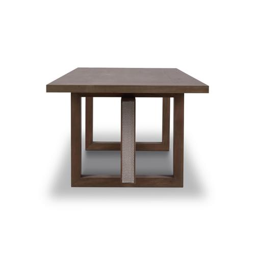 """Gallery - Tate Dining Table w/ Rattan 96"""""""