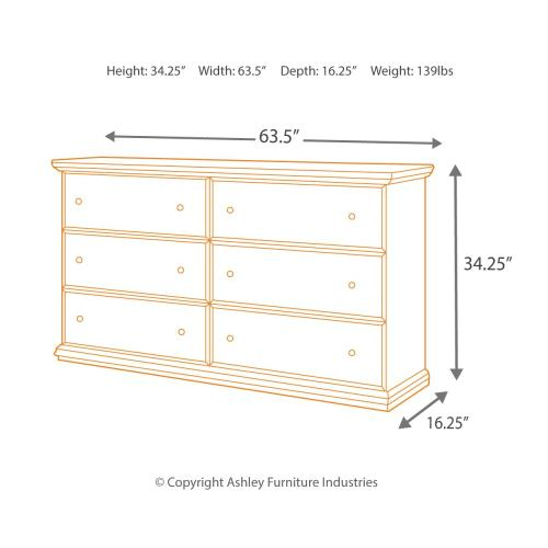 Full Panel Headboard With Dresser