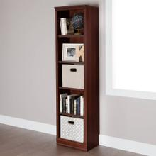 5-Shelf Narrow Bookcase - Royal Cherry