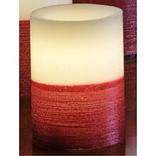 "4"" Red Scratch LED Candle"