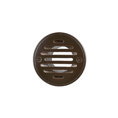 "Mountain Plumbing - 4"" Round Solid Nickel Bronze Plated Grid Shower Drain - Matte Black"
