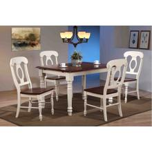 Butterfly Leaf Dining Set - Napoleon Chairs (5 Piece)