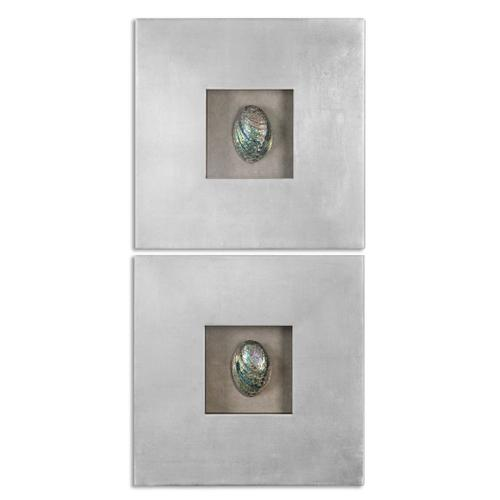 Abalone Shells Wall Decor, S/2