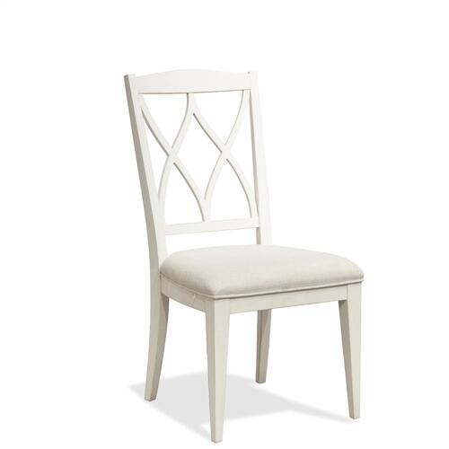 Myra - Xx-back Upholstered Side Chair - Paperwhite Finish