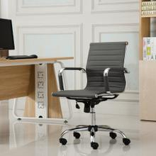 Panoton Chromel Contemporary Low Back Office Chair, Gray